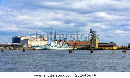 Holmen naval base in Copenhagen - Denmark - stock photo