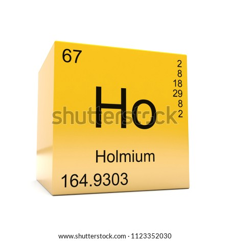 Holmium Chemical Element Symbol Periodic Table Stock Illustration