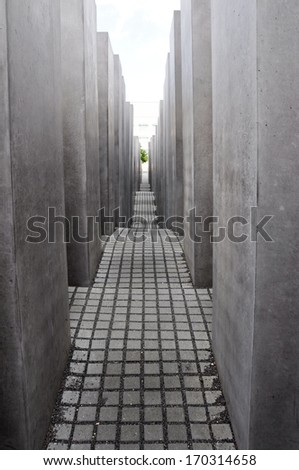 Holocaust Memorial, Berlin (Germany) - stock photo