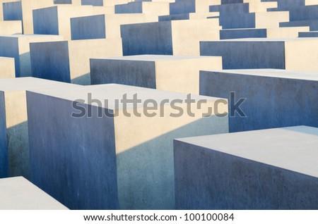 Holocaust memorial in Berlin - stock photo