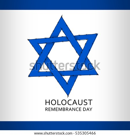 Holocaust Remembrance Day January 27 Stock Illustration 535305466