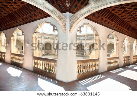Hols of Claustro de Saint Juan de los Reyes in Toledo, Spain