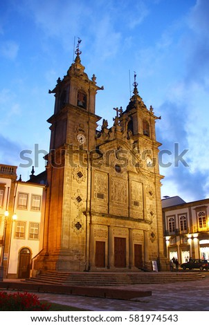 Holy Cross Church (Igreja de Santa Cruz), Braga old town, Portugal