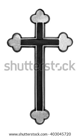 Holy cross isolated over white