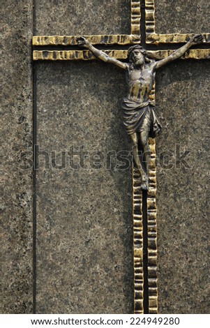 Holy cross with crucified Jesus Christ  - stock photo