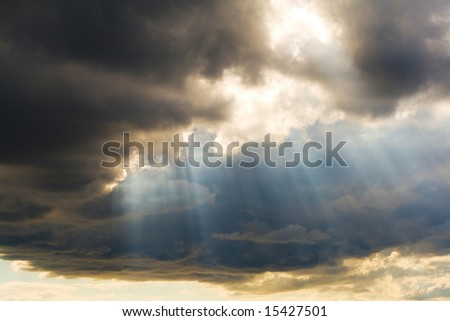 holy light from above - stock photo