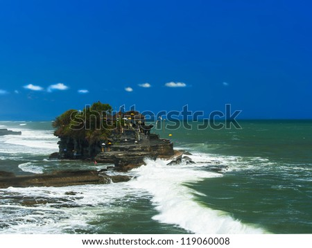 Holy place near Tanah Lot, Bali. Indonesia. - stock photo