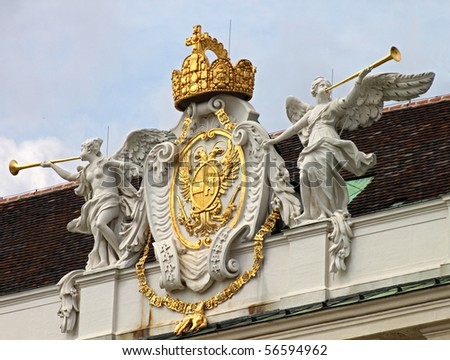 Holy Roman Empire coat of arms, Hofburg castle, Vienna