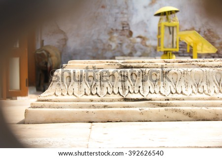 Holy shrine visited by people of all faith at Nizamuddin Dargarh, prayer concept - stock photo