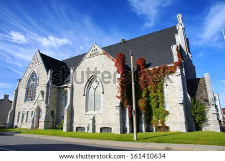Holy Trinity Baptist Church Kingston Ontario Canada 19th century historic heritage building - stock photo