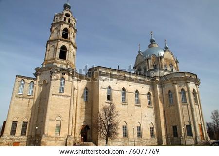 Holy Trinity Church of Russia, Ryazan region, Kasimov district, town of Gus-iron. Monument Romanticism abroad XVIII-XIX century - stock photo