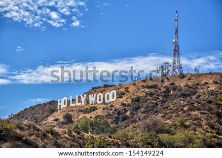 Holywood sign - stock photo