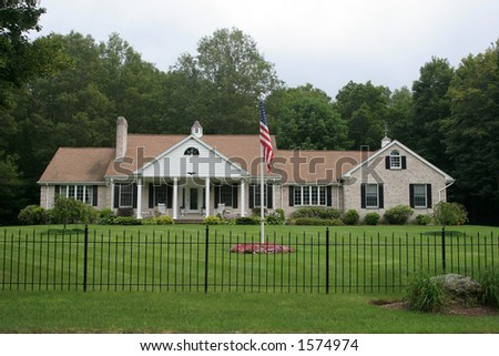 home and landscape - stock photo