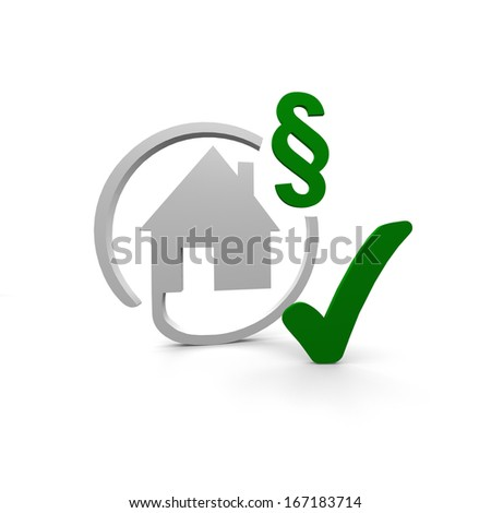 home and law - stock photo