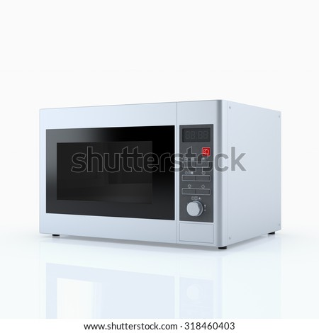 Home appliances. Microwave oven isolated on white. 3D render