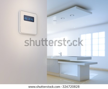 Home automation background - intelligent house concept - stock photo