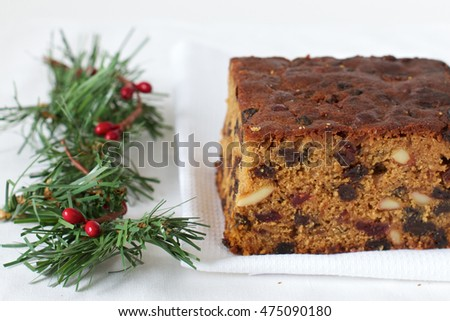 Home Baked Christmas fruit and nut Cake