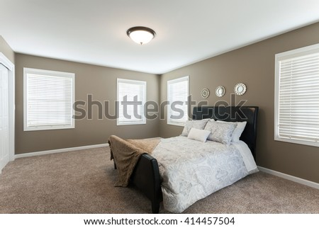 Home Bedroom Interior - stock photo