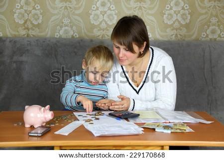 home budget - stock photo