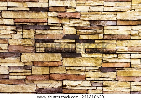 home building stone suitable as background - stock photo