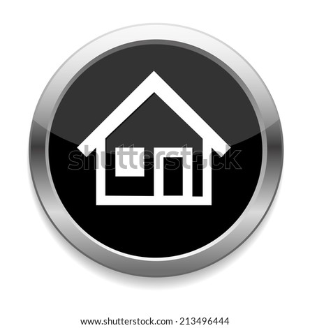 Home button / icon - stock photo