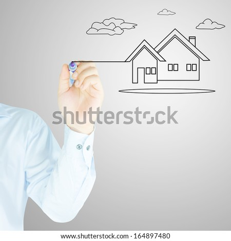 home by human hand  - stock photo