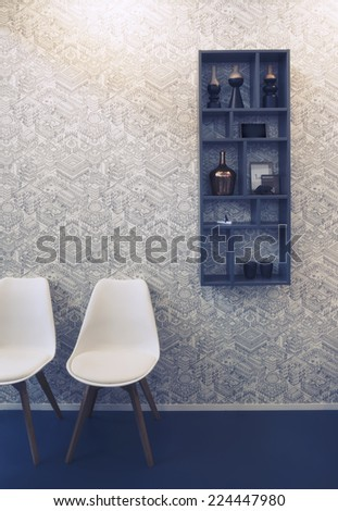 home chairs and wall decoration  - stock photo