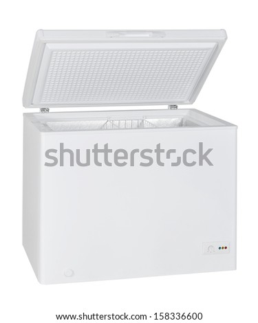 Home chest freezer isolated with clipping path - stock photo