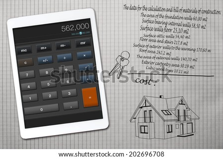Home construction cost calculator stock photo 202696714 for Cost of new home construction calculator