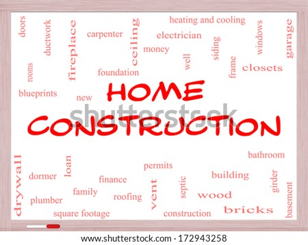 Building permit stock images royalty free images vectors home construction word cloud concept on a whiteboard with great terms such as new building malvernweather Choice Image