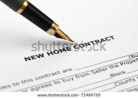 Home contract - stock photo