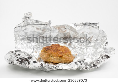 home cooking, meatball in foil