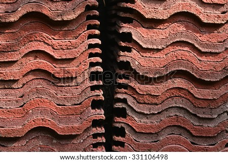 home decoration roof bricks background pattern
