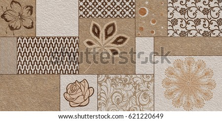 Home Decorative Wall Tiles Design Background For Building,