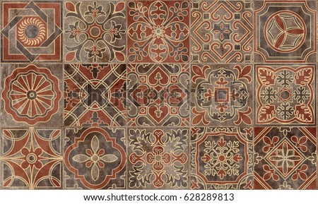 Beautiful Home Decorative Wall Tiles Design Pattern Background,