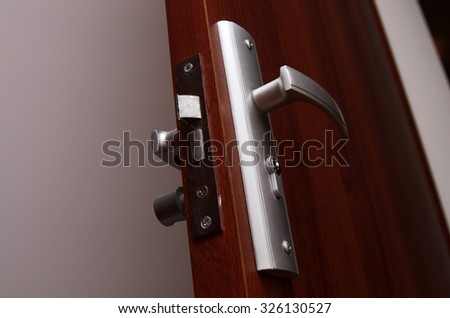 home door handle closeup