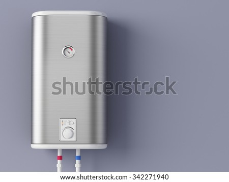 Home electric heating boiler - stock photo