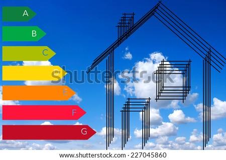 home energy efficiency - stock photo