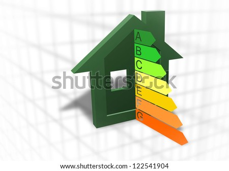 Home energy efficiency symbol - stock photo
