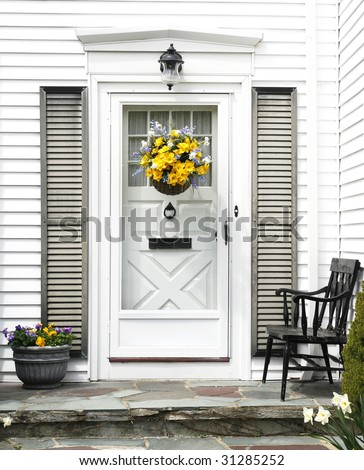 home entrance - stock photo