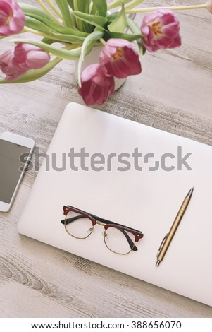 home female office - stock photo