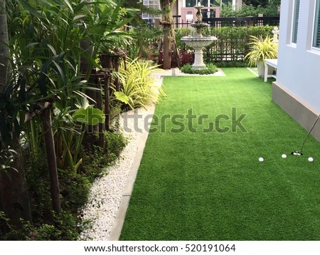 Home Golf Course Architecture Design Grass Stock Photo 514315018 ...