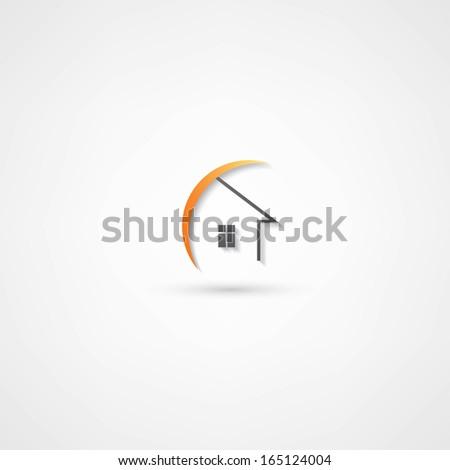 home icon - stock photo
