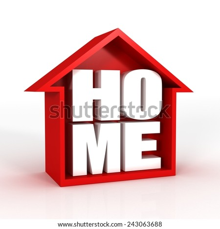 home icon 3d - stock photo