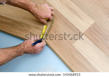Home improvement, floor installation