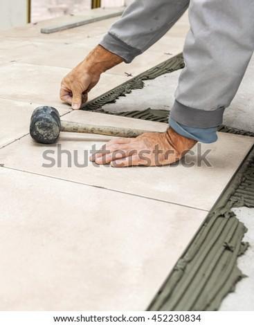 Diy floor tiling