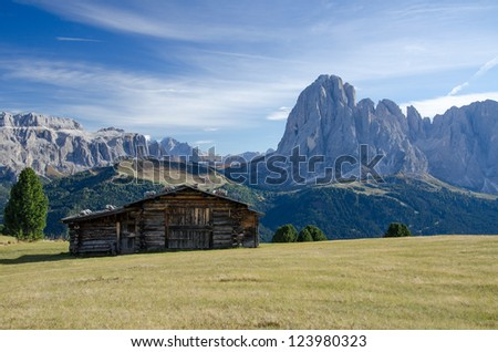 Home in Alps Narure