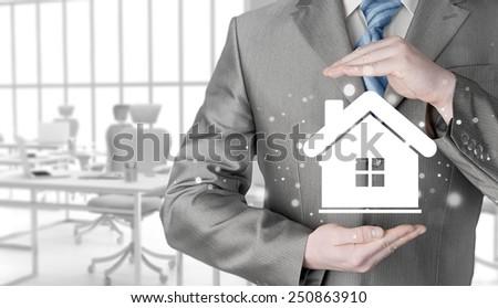 Home insurance concept. - stock photo
