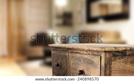 home interior and table  - stock photo