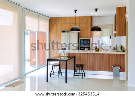 home interior design - stock photo